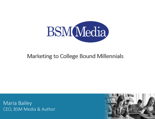 Marketing to College Bound Millennials